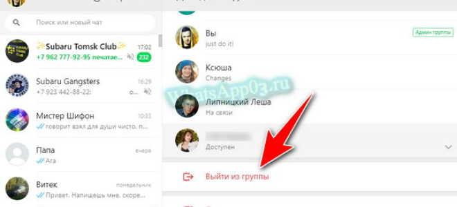 Удаление группы в WhatsApp быстро и правильно