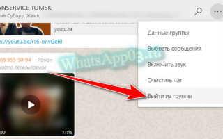 Выход из группы в WhatsApp, как удалиться быстро и правильно