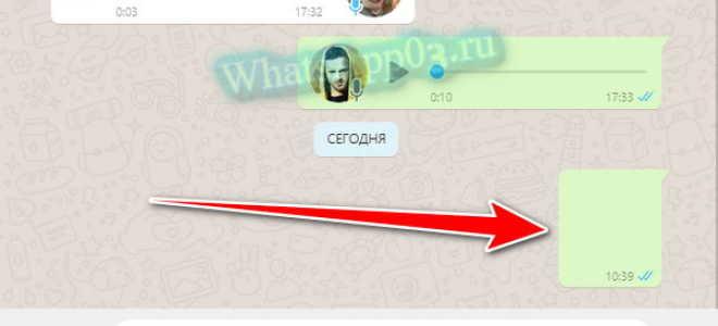 Отправка пустого сообщения в WhatsApp