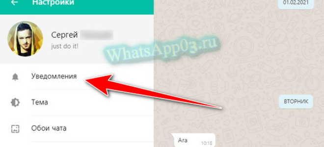 Выключаем оповещения в WhatsApp для звонков и сообщений